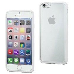 Чехол-накладка для Apple iPhone 6, 6s (Muvit Myframe Case MUBMC0100) (белый) - Чехол для телефонаЧехлы для мобильных телефонов<br>Плотно облегает корпус и гарантирует надежную защиту от царапин и потертостей.
