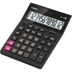 Калькулятор настольный Casio GR-12 (черный) - КалькуляторКалькуляторы<br>Калькулятор настольный Casio GR-12 - дисплей 12 разрядов, двойное питание, крупные цифры и кнопки, операции с процентами, вычисление квадратного корня, клавиша quot;00quot;.