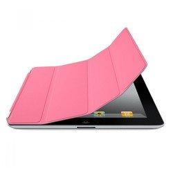 Кожаный чехол-книжка для Apple iPad 2 (Lether Smart Cover) (розовый) - Чехол для планшетаЧехлы для планшетов<br>Плотно облегает корпус и гарантирует надежную защиту от потертостей и других нежелательных внешних повреждений.