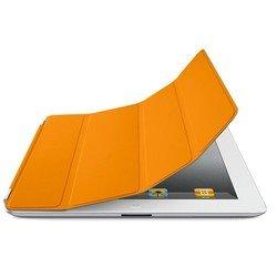 Кожаный чехол-книжка для Apple iPad 3 new (Lether Smart Cover) (оранжевый) - Чехол для планшетаЧехлы для планшетов<br>Плотно облегает корпус и гарантирует надежную защиту от потертостей и других нежелательных внешних повреждений.