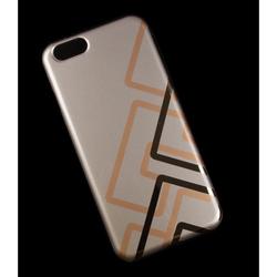 Чехол-накладка для Apple iPhone 6, 6s 4.7 (Macuus R0006322 Полоски) (золотистый) - Чехол для телефонаЧехлы для мобильных телефонов<br>Чехол защищает Ваше устройство от грязи, пыли, брызг и других нежелательных внешних повреждений.