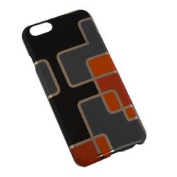 Чехол-накладка для Apple iPhone 6, 6s 4.7 (Macuus R0006325 Оранжевые квадратики) (черный) - Чехол для телефонаЧехлы для мобильных телефонов<br>Чехол защищает Ваше устройство от грязи, пыли, брызг и других нежелательных внешних повреждений.