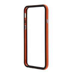 Чехол бампер для Apple iPhone 6, 6s 4.7 (R0006711) (оранжевый с черным)  - Чехол для телефонаЧехлы для мобильных телефонов<br>Плотно облегает корпус и гарантирует надежную защиту от царапин и потертостей.