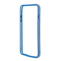 Чехол бампер для Apple iPhone 6 Plus, 6s Plus 5.5 (R0006380) (синий, прозрачный)  - Чехол для телефонаЧехлы для мобильных телефонов<br>Плотно облегает корпус и гарантирует надежную защиту от царапин и потертостей.