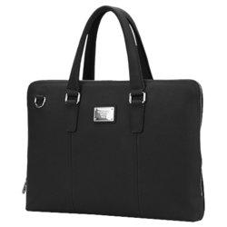 """Кожаная сумка для ноутбука до 15.6"""" ( Continent CL-105) (черный) - Сумка для ноутбука Малгобек компьютерные аксессуары купить"""