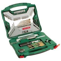 Bosch X-Line-100 (2.607.019.330) - Набор инструментовНаборы инструментов<br>Bosch X-Line-100 (2.607.019.330) - слесарно-столярный, количество предметов: 100, биты, торцевые головки, сверла
