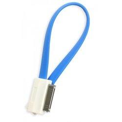 Дата-кабель USB - 30-pin для Apple iPhone 3GS/4/4S, iPad/2/3 new, iPod Nano 6/touch 4 (Smartbuy iK-402m) (синий) - Кабели Красногорское купить аксессуары для компьютера