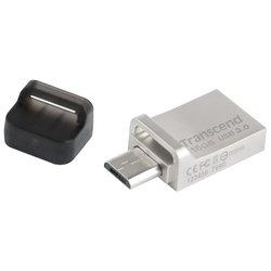 Transcend JetFlash 880 16Gb - USB Flash driveUSB Flash drive<br>Transcend JetFlash 880 16Gb - 16 Гб, USB 3.0/microUSB, водонепроницаемый корпус, материал корпуса: металл