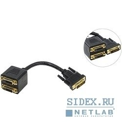 Кабель-переходник DVI-M - 2X-DVI-F 0.2m (Telecom TA655) - Кабель, переходникКабели, шлейфы<br>Данный сплиттер дублирует видеосигнал от одного источника на 2 устройства отображения, 2 x DVI quot;мамаquot;, Вход DVI quot;папаquot;
