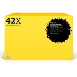 Тонер-картридж для HP LaserJet 4200, 4200L, 4200Ln, 4200dtn, 4200dtns (T2 TC-H42X) (черный, с чипом) - Картридж для принтера, МФУКартриджи<br>Совместим с моделями: HP LaserJet 4200, 4200L, 4200Ln, 4200dtn, 4200dtns, 4200dtnsL, 4200n, 4200tn, 4250, 4250dtn, 4250dtnsl, 4250n, 4250tn, 4300, 4300dtn, 4300n, 4300tn, 4345, 4345x, 4345xm, 4345xs, 4350, 4350dtn, 4350dtnsl, 4350n, 4350tn, M4345, M4345x, M4345xm, M4345xs.