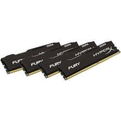 Набор памяти Kingston HyperX Fury 16Gb DDR4 2666MHz (HX426C15FBK4/16) (черный) - Память для компьютераМодули памяти<br>Тип DDR 4, форм-фактор DIMM, в наборе 4 модуля каждый объемом 4 Гб, частота 2666 МГц, 288 контактов, CL 15.