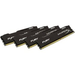 набор памяти kingston hyperx fury 32gb ddr4 2666mhz (hx426c15fbk4/32) (черный)