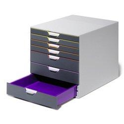 Лоток Durable 7607-27 с 7ю цветными выдвижными ящиками 28*29*35см - Лоток, подставка