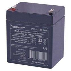 Батарея Ippon 12Вт 5Ач (IP12-5) - Батарея для ибпАккумуляторные батареи<br>Батарея предназначена для обеспечения резервным питанием систем охраны и безопасности, телекоммуникационного оборудования, промышленных объектов широкого назначения, работы в источниках бесперебойного питания.