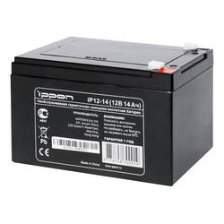 Батарея Ippon 12Вт 14Ач (IP12-14) - Батарея для ибпАккумуляторные батареи<br>Батарея предназначена для обеспечения резервным питанием систем охраны и безопасности, телекоммуникационного оборудования, промышленных объектов широкого назначения, работы в источниках бесперебойного питания.
