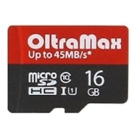 oltramax  microsdhc class 10 uhs-1 45mb/s 16gb + sd adapter