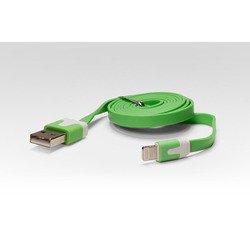 Дата-кабель Lightning - USB для Apple iPhone 5, 5C, 5S, 6, 6 plus, iPad 4, Air, Air 2, mini 1, mini 2, mini 3 (IQFUTURE IQ-AC01/G) (зеленый) - КабелиUSB-, HDMI-кабели, переходники<br>Дата-кабель, длина 1 метр, разъемы: USB 2.0, Lightning 8-pin.