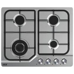 LEX GVS640 IX - Варочная поверхностьВарочные панели<br>LEX GVS640 IX - варочная газовая, независимая, панель конфорок: нерж.сталь, газ-контроль, автоматический электроподжиг, цвет: серебристый, габариты (ШхГ): 59x50 см