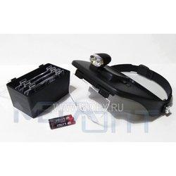 Лупа MG 81001-A с головным креплением (9891) - Микроскоп для ремонтаМикроскопы для ремонта<br>Особенно удобны в службах сервиса и контроля за электронным или прецизионным оборудованием.
