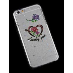Чехол-накладка для Apple iPhone 6, 6s 4.7 (R0006186) (Сердце Lucky Girl) - Чехол для телефонаЧехлы для мобильных телефонов<br>Плотно облегает корпус и гарантирует надежную защиту от царапин и потертостей.