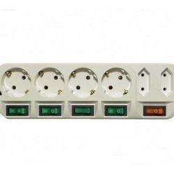 Сетевой удлинитель Most A16 (6 розеток) 5м (белый) - Сетевой фильтрУдлинители и сетевые фильтры<br>Сетевой удлинитель позволяет подключить до 6 устройств. Длина шнура 5 метров.