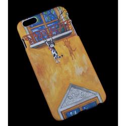 Чехол-накладка для Apple iPhone 6 Plus, 6s Plus 5.5 (R0007179) (Кот на карнизе) - Чехол для телефонаЧехлы для мобильных телефонов<br>Плотно облегает корпус и гарантирует надежную защиту от царапин и потертостей.