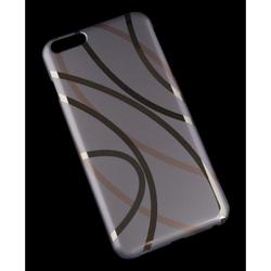 Чехол-накладка для Apple iPhone 6 Plus, 6s Plus 5.5 (R0006419) (Плавные линии) - Чехол для телефонаЧехлы для мобильных телефонов<br>Плотно облегает корпус и гарантирует надежную защиту от царапин и потертостей.