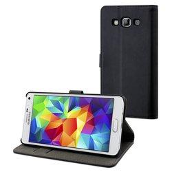 Чехол-книжка для Samsung Galaxy A5 A500F (Muvit Slim S Folio MUSLI0619) (черный) - Чехол для телефонаЧехлы для мобильных телефонов<br>Плотно облегает корпус и гарантирует надежную защиту от царапин и потертостей.