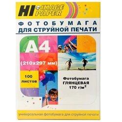 Фотобумага глянцевая A4 (100 листов) (Hi-image paper A21061)  - БумагаОбычная, фотобумага, термобумага для принтеров<br>Предназначена для высококачественной печати.