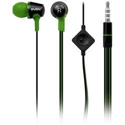 Sven SEB-190M (черно-зеленый) - НаушникиНаушники и Bluetooth-гарнитуры<br>Наушники с микрофоном, вставные (amp;quot;затычкиamp;quot;), импеданс 16 Ом, чувствительность 96 дБ, вес 15 г, кабель 1.2 м