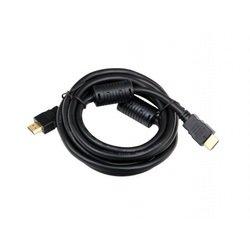 Кабель HDMI 19M - HDMI 19M (Telecom CG511D-5M) (черный) - HDMI кабель, переходникHDMI кабели и переходники<br>Кабель с разъемами HDMI, версия 1.4b, 2 фильтра, позолоченные контакты, длина 5м.