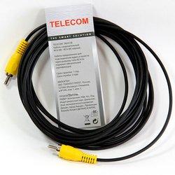 Кабель RCA (M) - RCA (M) (Telecom TAV4158-3M) (черный) - Кабель, переходник для TV и видеоКабели, переходники для TV и видео<br>Кабель с разъемами RCA (M) - RCA (M), длина 3 м.