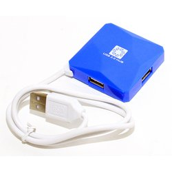 USB HUB 4 порта (5bites HB24-202BL) (синий) - USB HUB