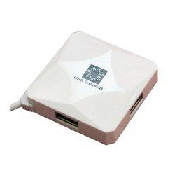 USB HUB 4 порта (5bites HB24-202WH) (белый) - USB HUB