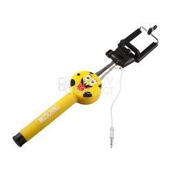 Монопод для селфи Губка Боб (0L-00000884) (желтый) - Аксессуар для селфиМоноподы и пульты для селфи<br>Держатель телескопический монопод с кнопкой съемки через разъем гарнитуры.