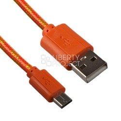 Дата-кабель USB - microUSB (0L-00000951) (оранжевый) - КабелиUSB-, HDMI-кабели, переходники<br>Позволит подключить к персональному компьютеру любые устройства с разъемом microUSB.