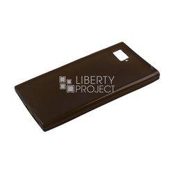 Силиконовый чехол-накладка для Lenovo Vibe Z2 (0L-00000545) (черный) - Чехол для телефона