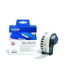 Ленточный картридж для Brother QL-570, QL-710w, QL-720nw, QL-500, QL-550 (DK-22210) (черный шрифт на белом фоне) (29 мм) - Картридж для принтера, МФУКартриджи<br>Совместимые модели: Brother QL-570, QL-710w, QL-720nw, QL-500, QL-550.