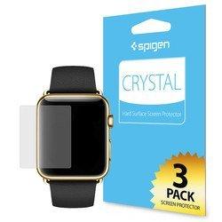 Защитная пленка для Apple Watch 38мм Spigen LCD Film Crystal CR (SGP11482) - Защитное стекло, пленка для умных часовЗащитные стекла и пленки для умных часов<br>Защитит экран устройства от царапин и потертостей. В комплекте 3 шт.