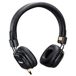 Marshall Major II (черный) - НаушникиНаушники и Bluetooth-гарнитуры<br>Накладные наушники с микрофоном, импеданс 64 Ом, чувствительность 99 дБ, диаметр мембраны 40 мм, разъём mini jack 3.5 mm, складная конструкция.