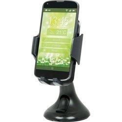 Универсальный автомобильный держатель Defender Car holder 103 (29103) (черный) - Автомобильный держатель для телефонаАвтомобильные держатели для мобильных телефонов<br>Для устройств с диагональю до 5quot;, регулируемое расстояние между зажимами 50 - 100 мм, материал: пластик, крепление: присоска на стекло.