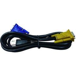 Кабель KVM VGA-USB (D-Link DKVM-IPVUCB) - Кабель, переходникКабели, шлейфы<br>Кабель KVM для подключения клавиатуры, мыши и монитора.