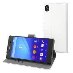Чехол книжка для Sony Xperia Z3+ (Muvit MFX Wallet Folio Case SEWAL0014) (белый) - Чехол для телефонаЧехлы для мобильных телефонов<br>Плотно облегает корпус и гарантирует надежную защиту от царапин и потертостей.