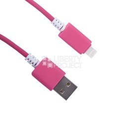 дата-кабель usb - apple 8-pin lightning (0l-00000700) (розовый)