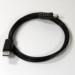 Кабель Display Port (M) - Display Port (M) 1м (Telecom CG590-1M) (черный) - Кабель, переходникКабели, шлейфы<br>Кабель с разъемами 2хDisplay Port, длина 1 метр.