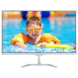Philips 276E7QDSW/00(01) (белый) - МониторМониторы<br>ЖК-монитор с диагональю 27quot;, тип матрицы экрана TFT PLS, разрешение 1920x1080 (16:9), светодиодная (LED) подсветка, подключение: VGA, DVI, HDMI, MHL, яркость 250 кд/м2, контрастность 1000:1, время отклика 5 мс.