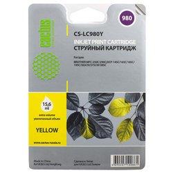 Картридж для Brother DCP-145C, 165, 185, 195, 365, 375, 385, MFC-250C, 290 (Cactus CS-LC980Y) (желтый) - Картридж для принтера, МФУ
