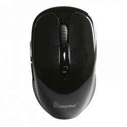 Беспроводная мышь Smartbuy 502AG (SBM-502AG-K) (черный) - Мышь, клавиатура для компьютера и планшетаКлавиатуры, мыши, комплекты<br>Беспроводная мышь, интерфейс подключение USB ресивер, радиус действия: до 20 м, 5 кнопок + колесо прокрутки, разрешение мыши 800, 1000, 1600 dpi.