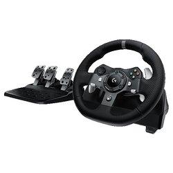 Logitech G920 Driving Force - Руль, джойстик, геймпадРули, джойстики, геймпады<br>Logitech G920 Driving Force - руль, USB, вибрация, обратная связь, ПК, Xbox One