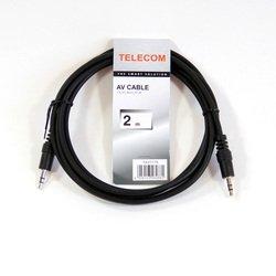 Аудио-кабель 3.5 Jack (m) - 3.5 Jack (m) 2м (Telecom TAV7175-2M) (черный) - Кабель, разъем для акустической системыКабели и разъемы для акустических систем<br>Аудио-кабель обеспечивает высокую точность передачи сигнала без потерь и искажений, с минимальным сопротивлением.